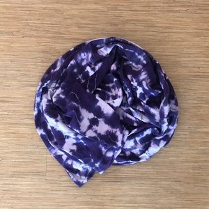 Purle tie dye infinity scarf